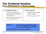 the textbook solution every psg demand is a district supply