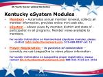 kentucky esystem modules1