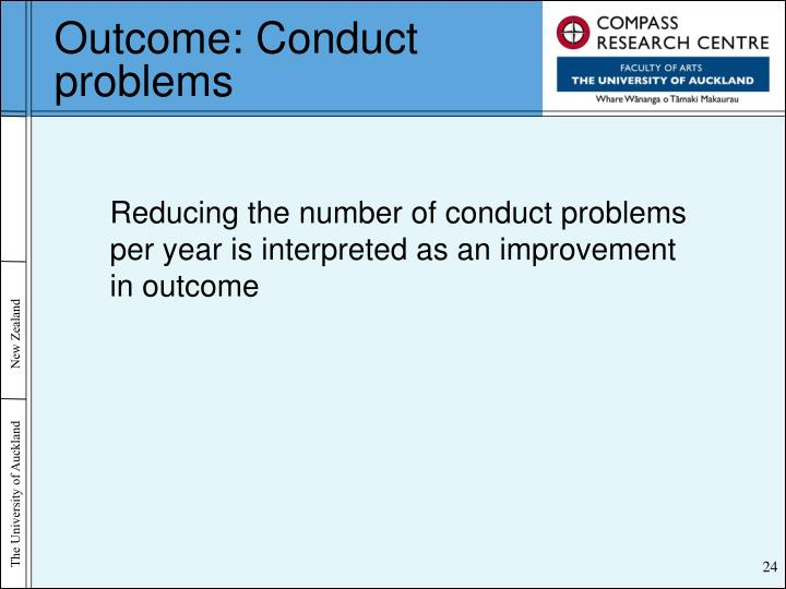 Outcome: Conduct problems