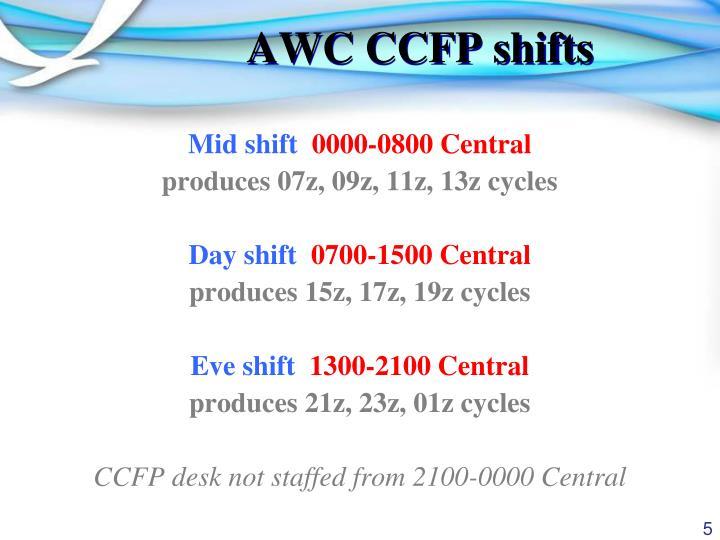 AWC CCFP shifts