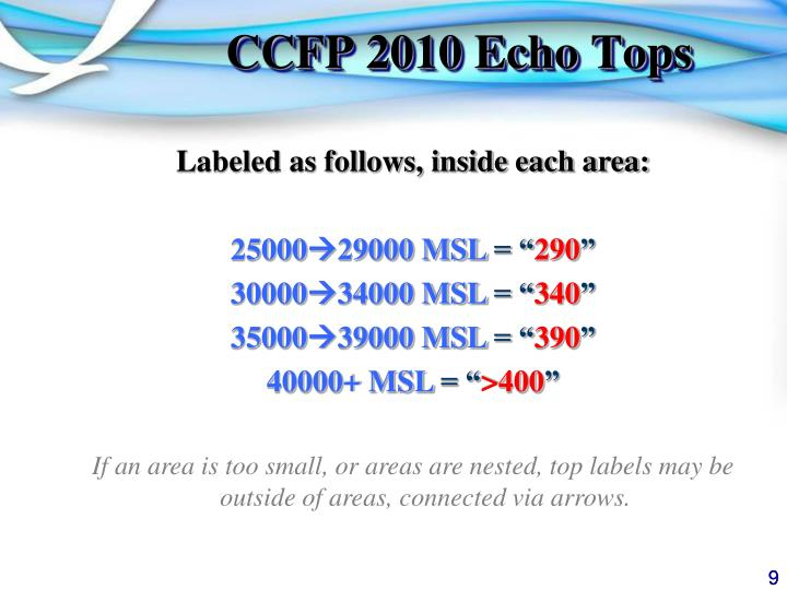 CCFP 2010 Echo Tops