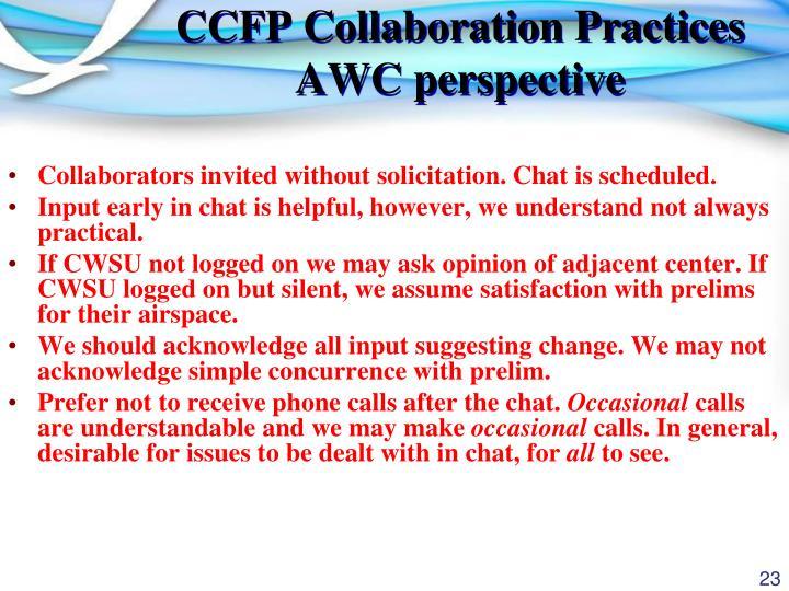 CCFP Collaboration Practices