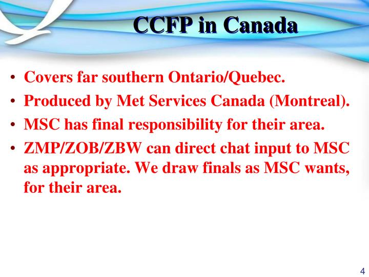 CCFP in Canada