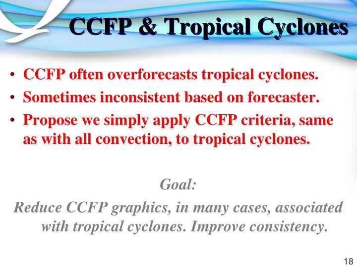 CCFP & Tropical Cyclones