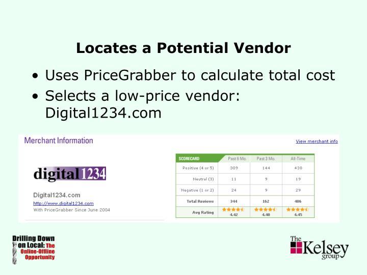 Locates a Potential Vendor
