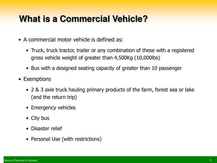 What is a Commercial Vehicle?