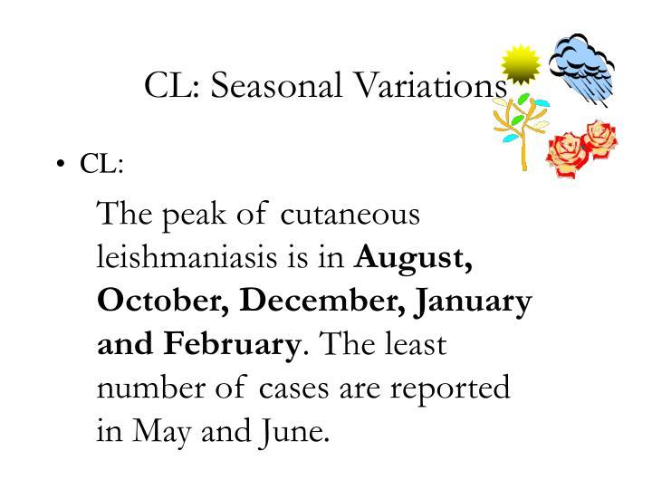 CL: Seasonal Variations