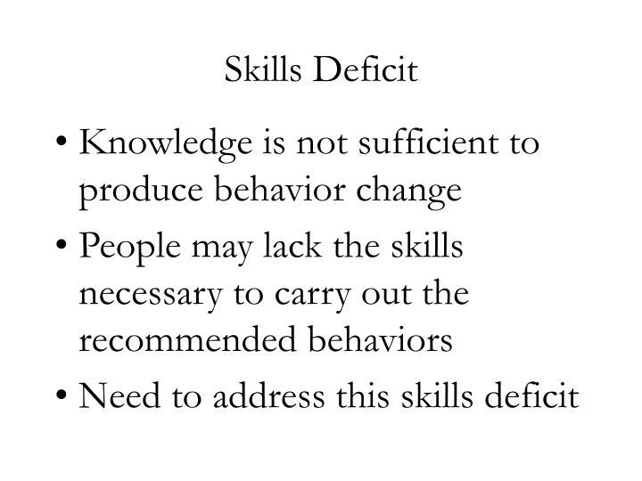 Skills Deficit