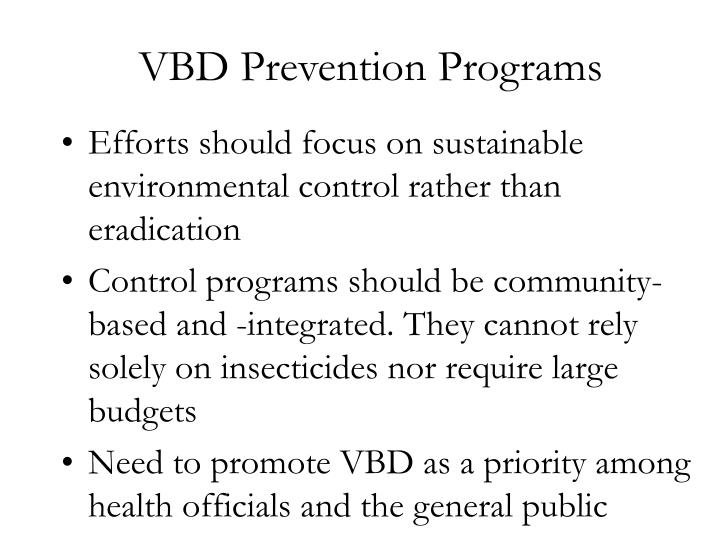 VBD Prevention Programs