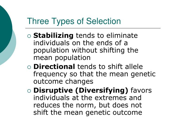 Three Types of Selection