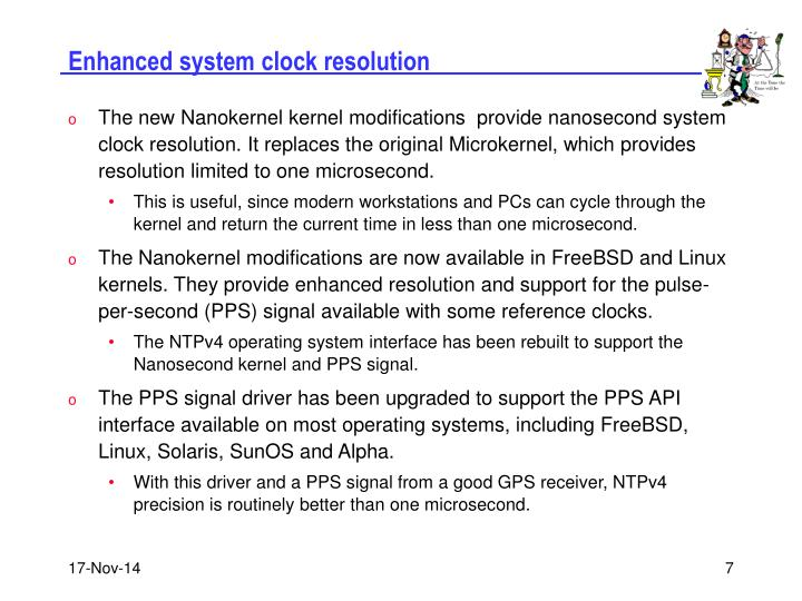 Enhanced system clock resolution