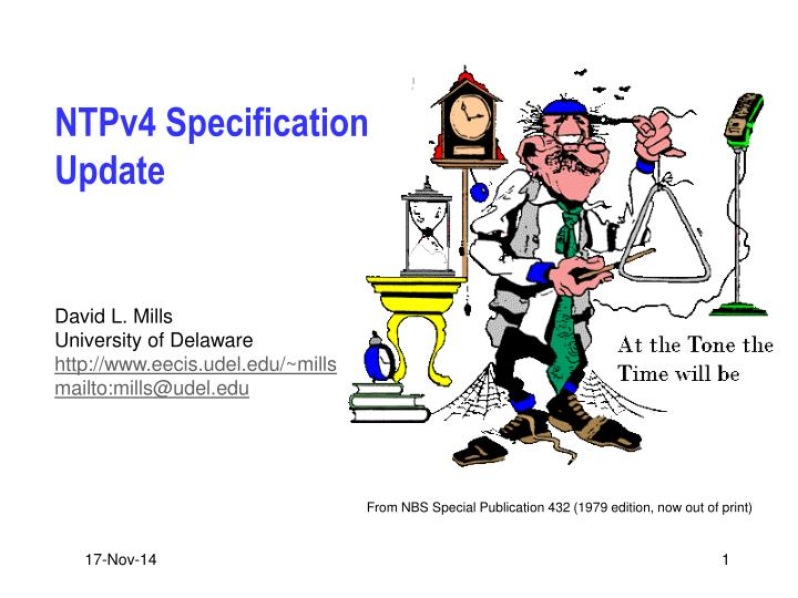 Ntpv4 specification update