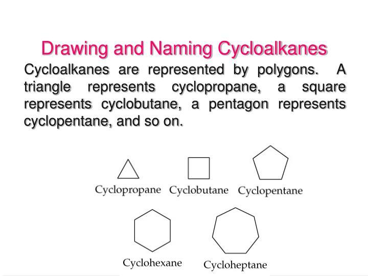 Drawing and Naming Cycloalkanes