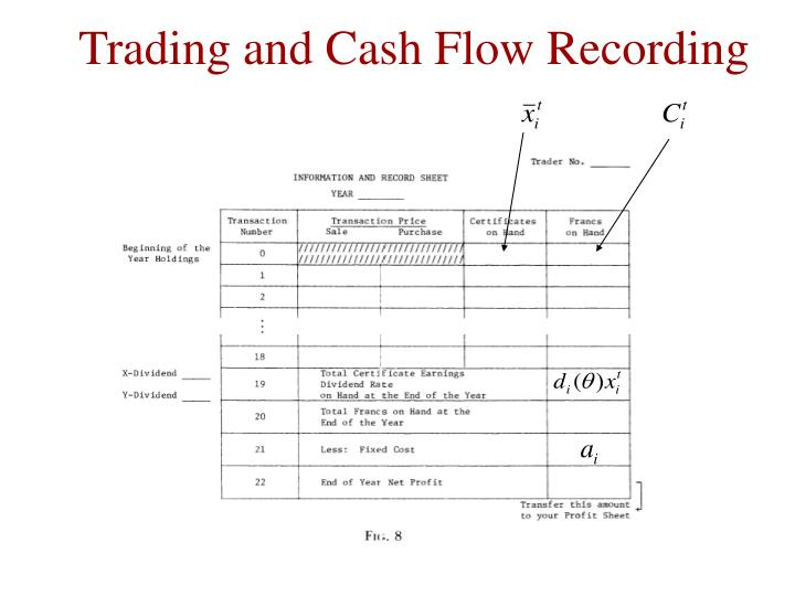 Trading and Cash Flow Recording