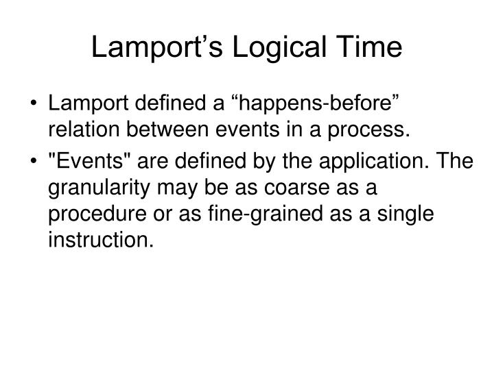Lamport's Logical Time