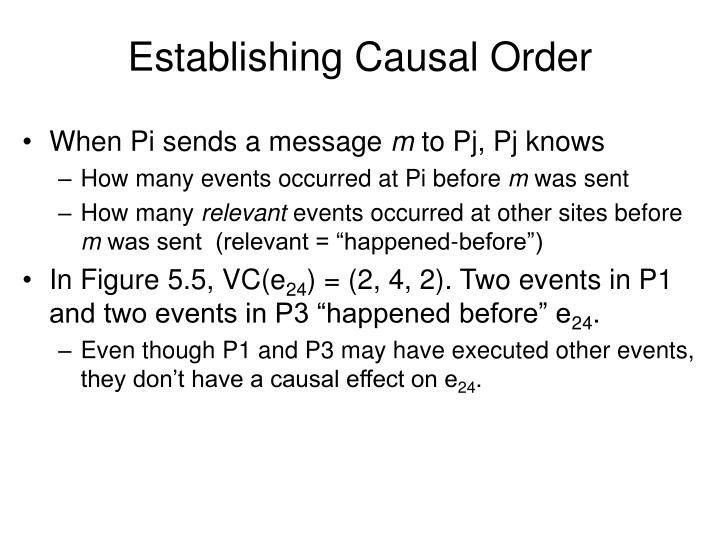 Establishing Causal Order