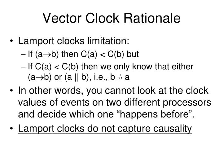Vector Clock Rationale