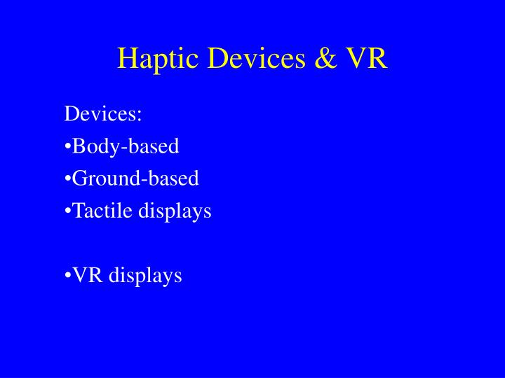 haptic devices vr n.