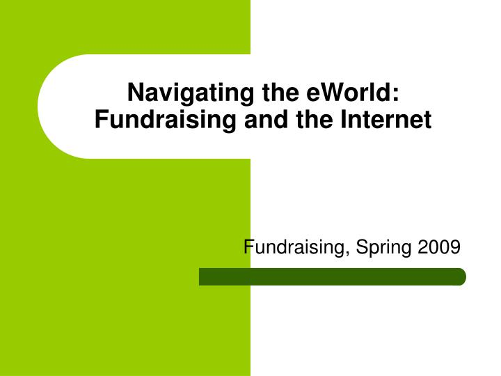 navigating the eworld fundraising and the internet n.