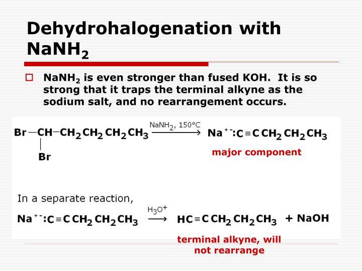 Dehydrohalogenation with NaNH
