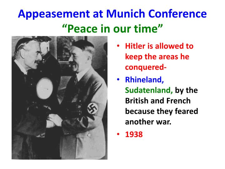 Appeasement at Munich Conference