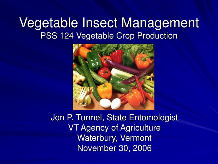 vegetable insect management pss 124 vegetable crop production n.
