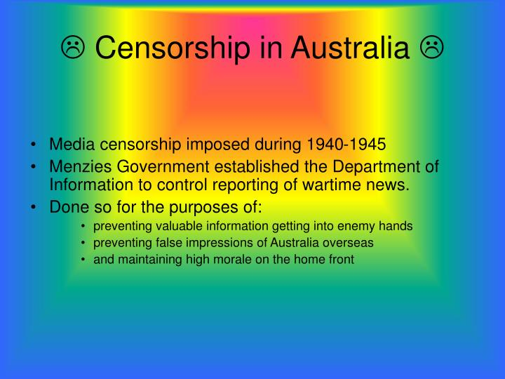 Censorship in australia