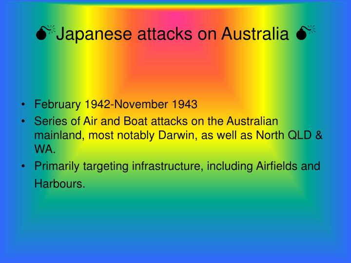 Japanese attacks on australia