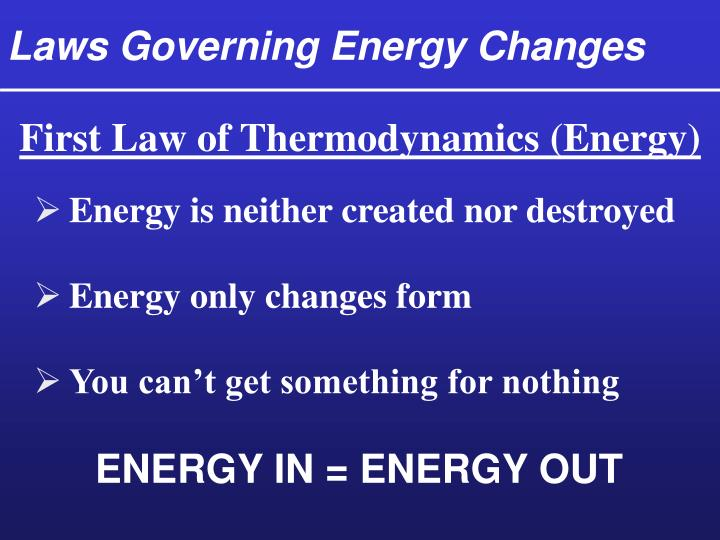 Laws Governing Energy Changes