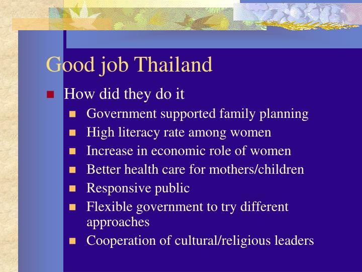 Good job thailand