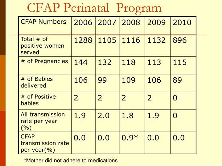 CFAP Perinatal  Program