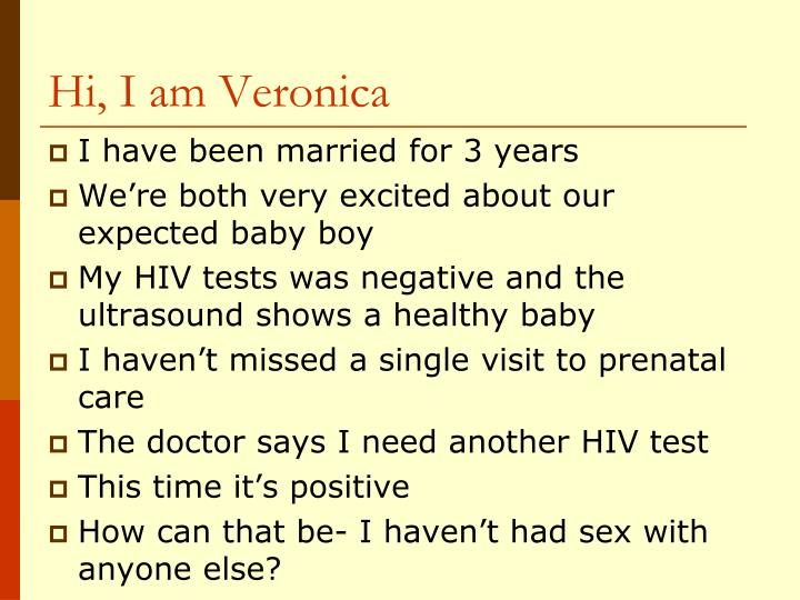 Hi, I am Veronica