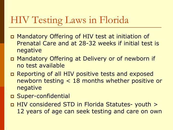 HIV Testing Laws in Florida