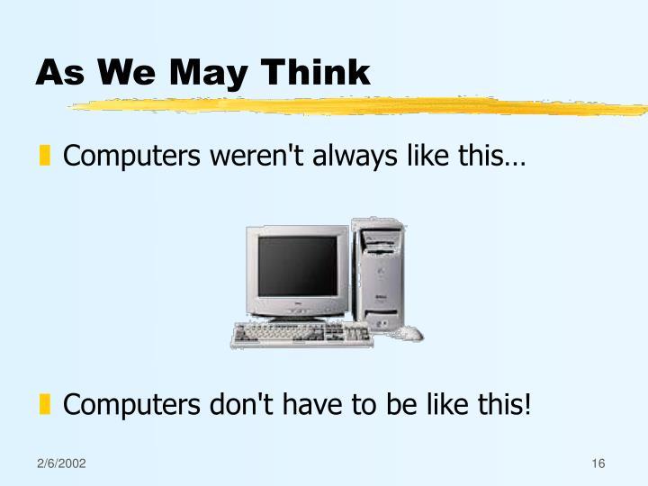 As We May Think