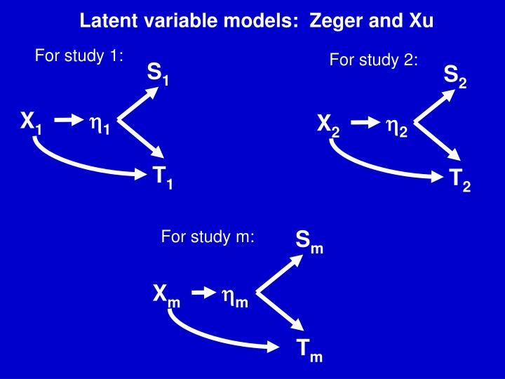 Latent variable models:  Zeger and Xu