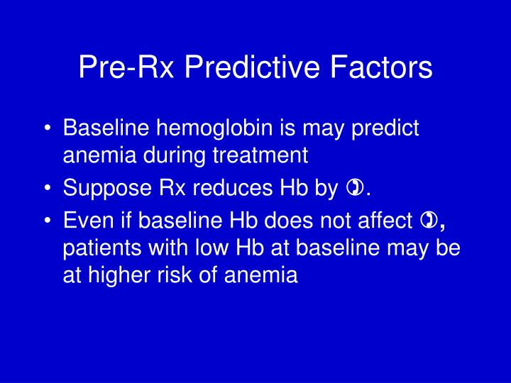 Pre-Rx Predictive Factors