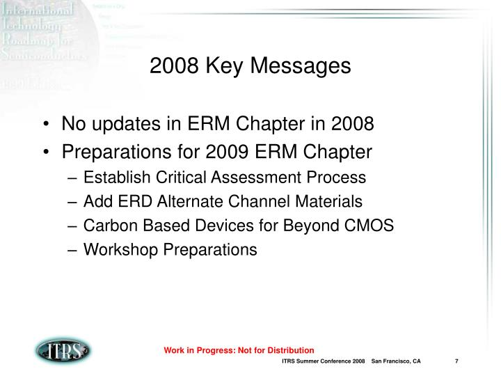 2008 Key Messages