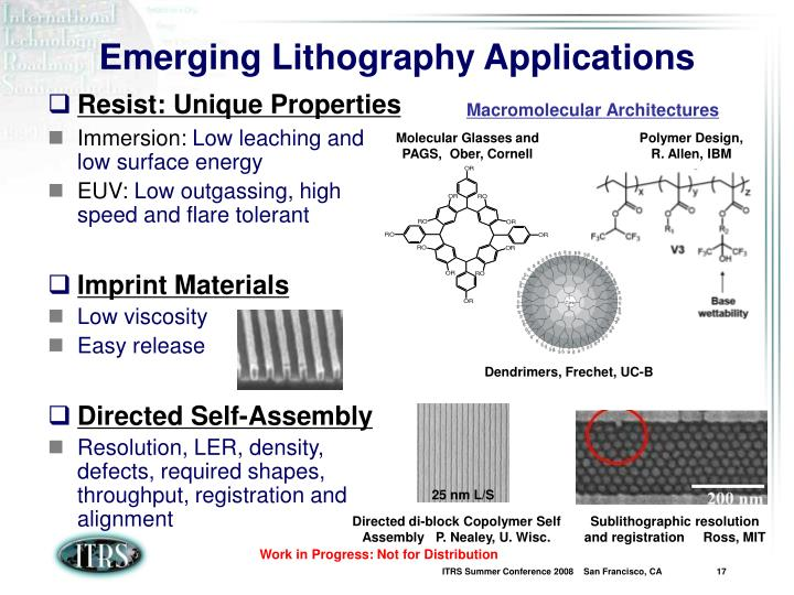 Emerging Lithography Applications