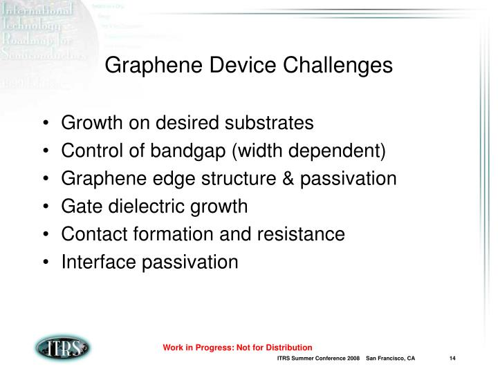 Graphene Device Challenges