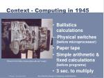 context computing in 19451