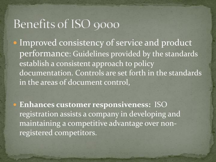 Benefits of ISO 9000