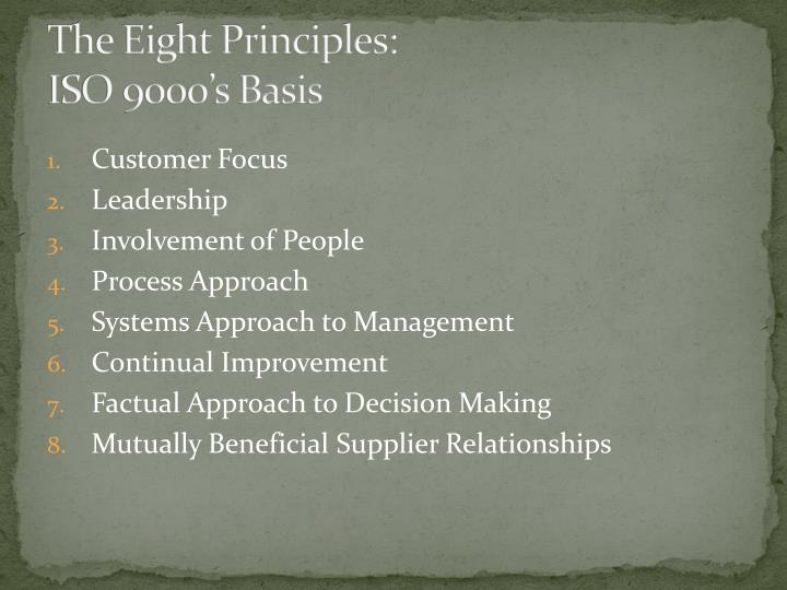 The Eight Principles: