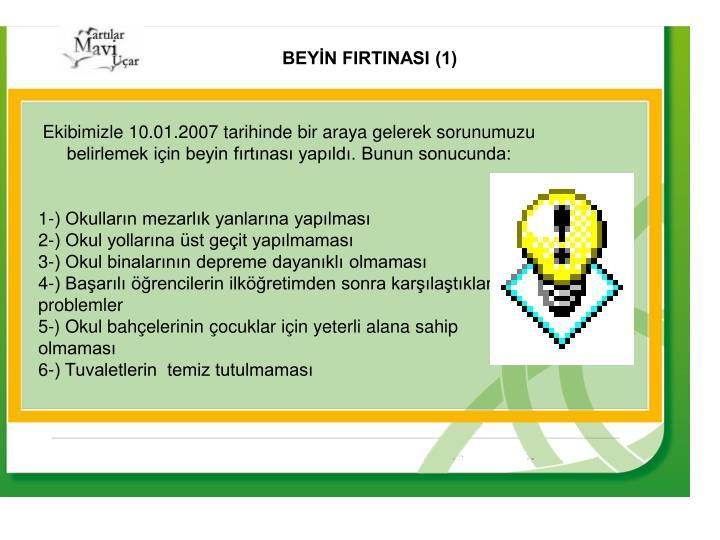 BEYİN FIRTINASI (1)