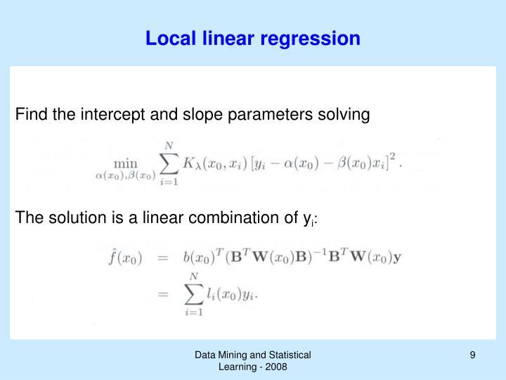 Local linear regression