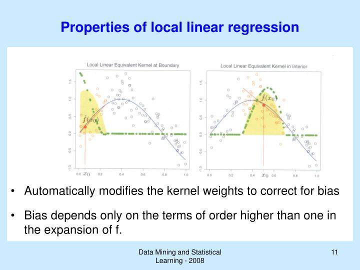 Properties of local linear regression