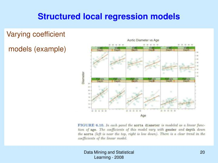 Structured local regression models