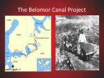 the belomor canal project