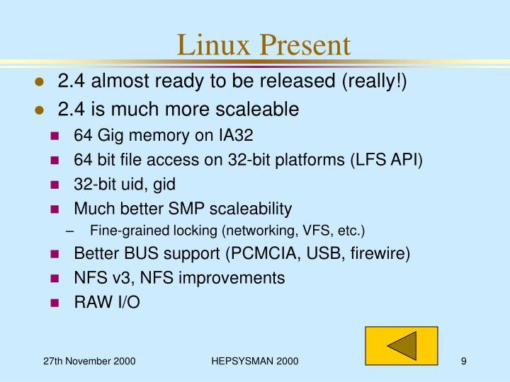 Linux Present