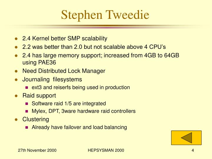 Stephen Tweedie