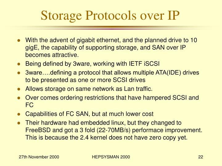 Storage Protocols over IP
